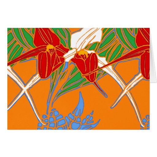 Bright Orange Modern Greeting Card