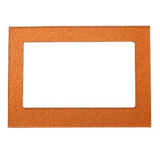 Bright Orange Neon Trendy Colors Magnetic Photo Frame
