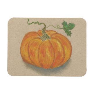 Bright Orange Pumpkin Rectangular Magnet