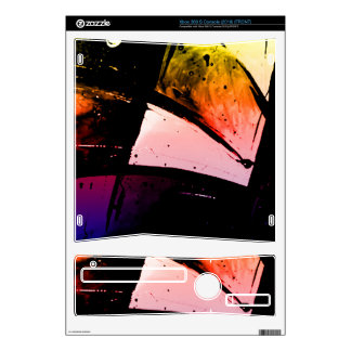 Bright Orange & Red Abstract Xbox 360 S Decals
