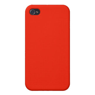 bright orange red color case for iPhone 4