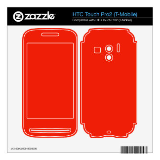 bright orange red color HTC touch pro2 skins