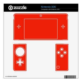 bright orange red color skins for 3DS