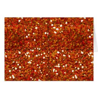 BRIGHT ORANGE RED TAN WHITE GLITTER-LIKE TILES TE CARD
