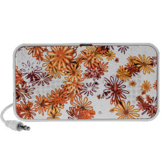 Bright orange retro flower daisy spring garden notebook speaker