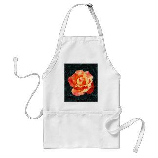 Bright orange rose adult apron