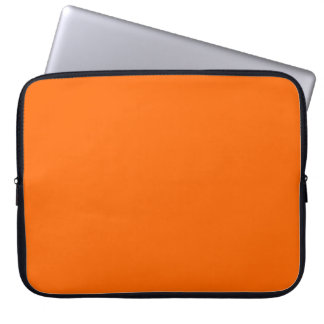 Bright Orange  Solid Color Laptop Computer Sleeves