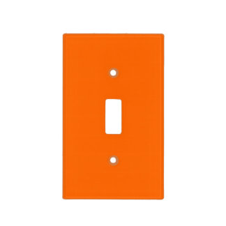 Bright Orange  Solid Color Switch Plate Covers