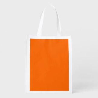 Bright Orange  Solid Color Market Tote