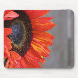 Bright Orange Sunflower Mousepad