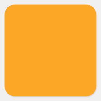 Bright Orange Toiletry Labels/ Square Sticker
