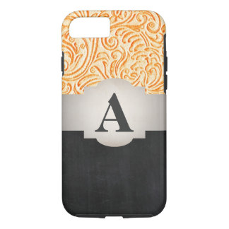 Bright Orange Vintage Scrollwork Design iPhone 8/7 Case