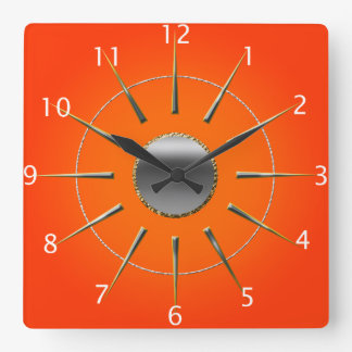 Bright Orange Wall Clock