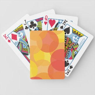 Bright Orange Yellow Red Pattern Poker Deck