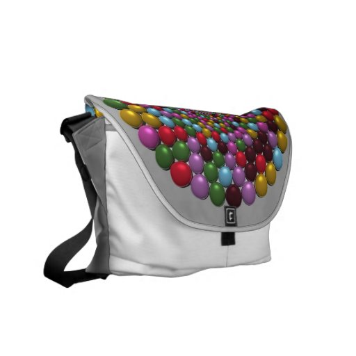 Bright Orbs Courier Bag