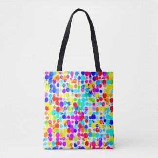 Bright Paint Dots Rainbow Bag