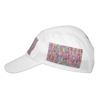 Bright Paint Splatter Abstract Hat