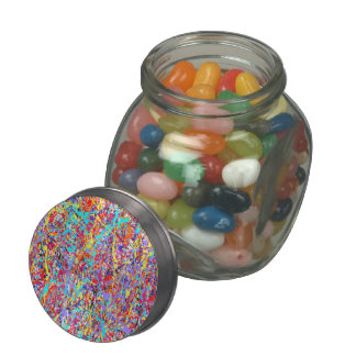 Bright Paint Splatter Abstract Jelly Belly Candy Jars