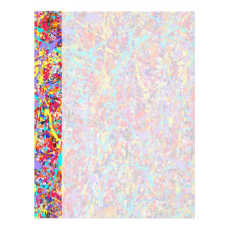 Bright Paint Splatter Abstract Letterhead