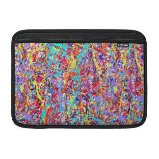Bright Paint Splatter Abstract MacBook Sleeve