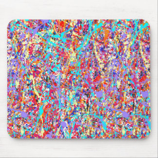 Bright Paint Splatter Abstract Mouse Pad