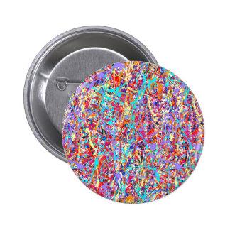 Bright Paint Splatter Abstract Pinback Button