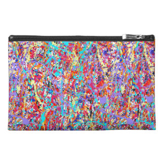 Bright Paint Splatter Abstract Travel Accessories Bags