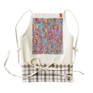 Bright Paint Splatter Abstract Zazzle HEART Apron