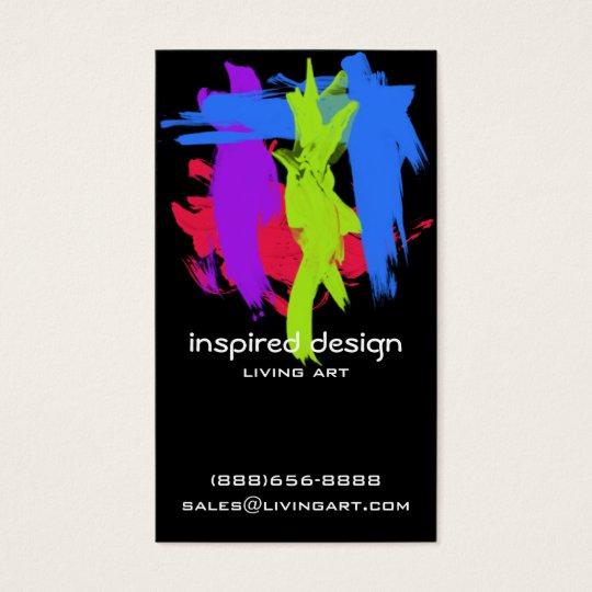 Bright Paint Strokes Acrylic Business Card