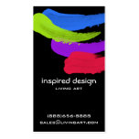 Bright Paint Strokes Business Card