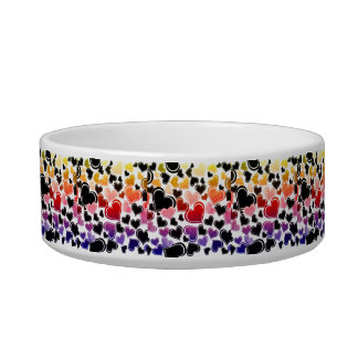 Bright Painted Hearts Love Design Bowl