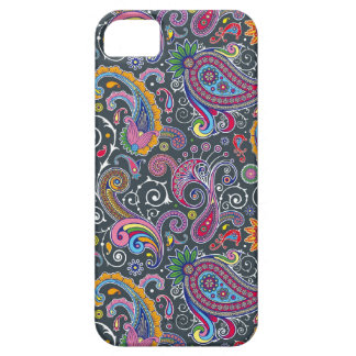 Bright Paisley on Flat Black iPhone SE/5/5s Case