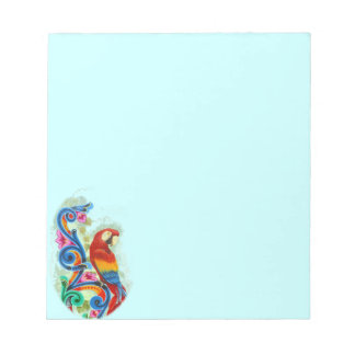 bright parrot blue notepad