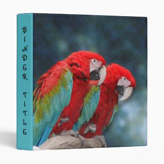 Bright Parrot Couple Photo Vinyl Binder