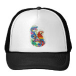 bright parrot trucker hat