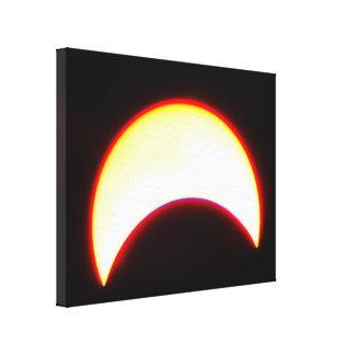 Bright Partial Eclipse Canvas Print