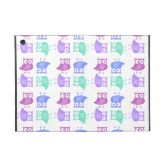 Bright party owls iPad mini cover