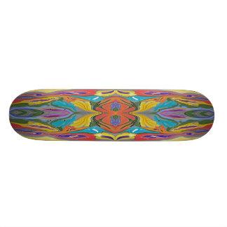 Bright pastel colored skateboard