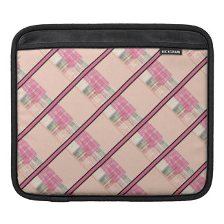 Bright Pastel Geometric Abstract Cubes Pattern Sleeves For iPads