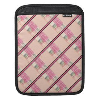 Bright Pastel Geometric Abstract Cubes Pattern iPad Sleeves