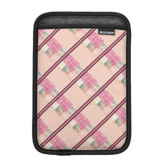 Bright Pastel Geometric Abstract Cubes Pattern Sleeve For iPad Mini