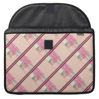 Bright Pastel Geometric Abstract Cubes Pattern Sleeves For MacBook Pro