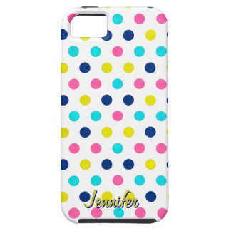Bright Pastel Polka Dot iPhone iPhone SE/5/5s Case