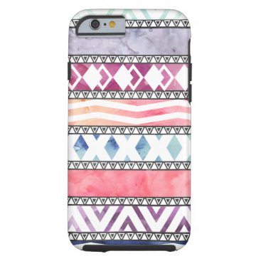 Aztec Themed Bright Pastel Watercolor Tribal Aztec Pattern Tough iPhone 6 Case