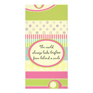 Bright Patchwork Pattern w/ Wise Words/Quote Card