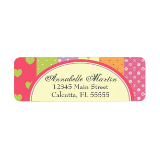 Bright Patchwork-Style Label