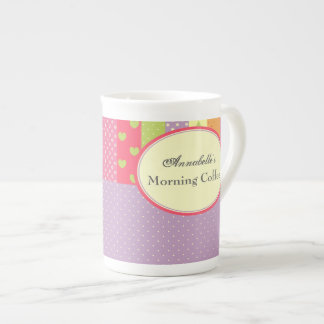 Bright Patchwork-Style Tea Cup