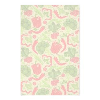 Bright pattern from fresh vegetables custom stationery