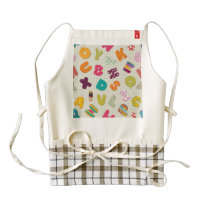 Bright Patterned Letters Zazzle HEART Apron
