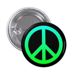 Bright Peace Symbol Button
